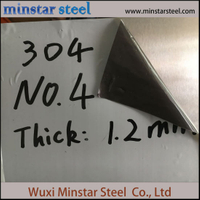 304 304L Stainless Steel Sheet No.4 Satin Finish for Food Machine
