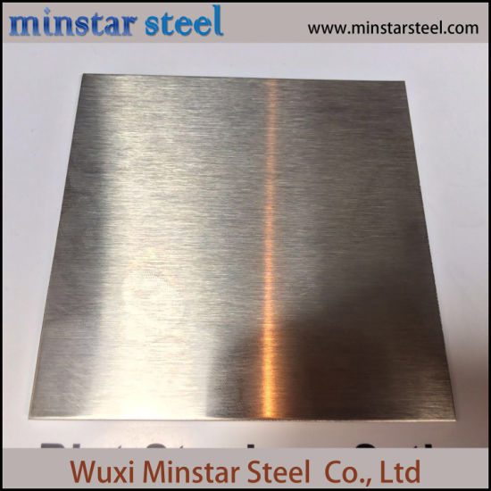 Free Sample 304 304L Stainless Steel Sheet No.4 Finish with Plastic Film