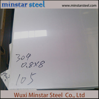 2b Finish 1mm Thick 304 Stainless Steel Sheet for Kitchen Wall