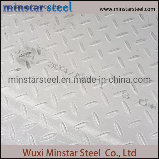 Seawater Corrosion Resisitance Checkered Stainless Steel Sheet AISI 316 316L